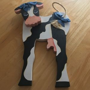 Wooden Cow Hanging